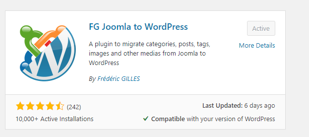 FG Joomla to WP plugin