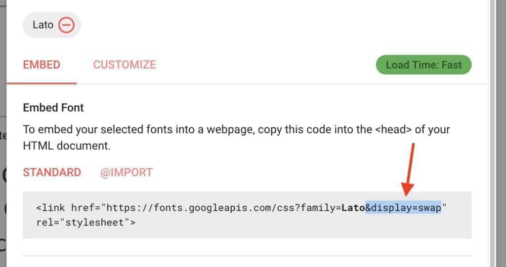 editovanje Google font-a