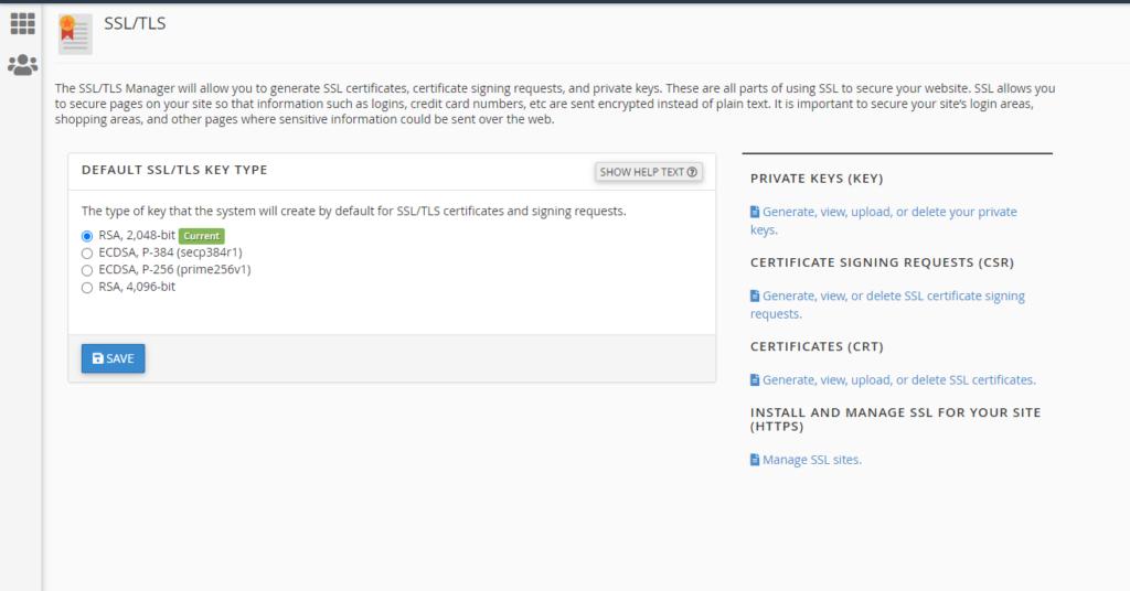 SSL / TLS aplikacija u cPanel-u